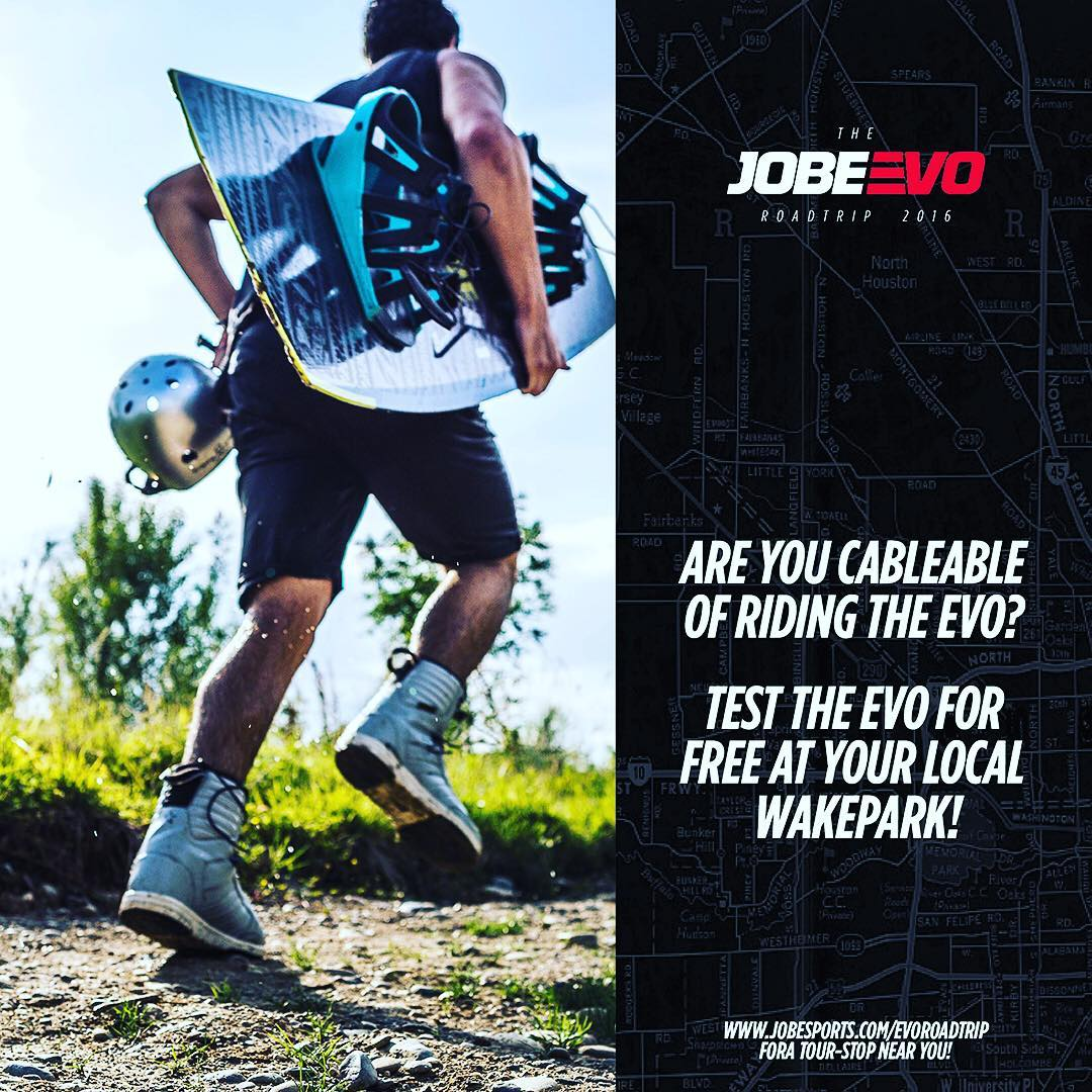 With you shredding the rails Jobe introduces the EVOlution of wakeboarding: The JOBE EVOROADTRIP 2016! Join us and test the new EVO-bindings for free. Check the link in the bio!