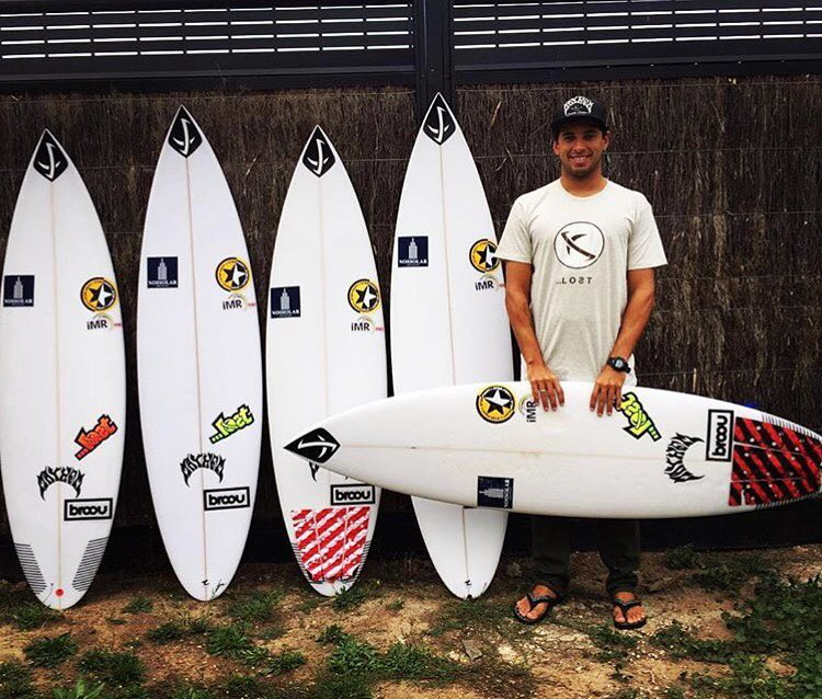 Welcome to the team @alexribeiro89! Watch Alex compete at the WSL Bells Beach event. He's in heat 7 of round 1 when the event starts. @lostbrasil @lostsurfboardsbrasil #AlexRibeiro