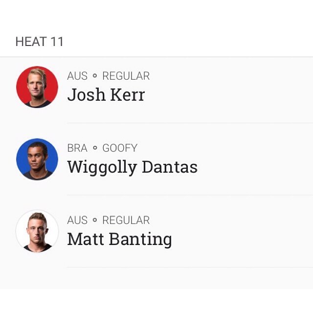 The Ripcurl Bells Beach Pro It' On! @wsl  @josh_kerr84 coming up in Heat 11 jump on line and show some support. #GoJoshKerr #RipCurlPro #BellsBeach