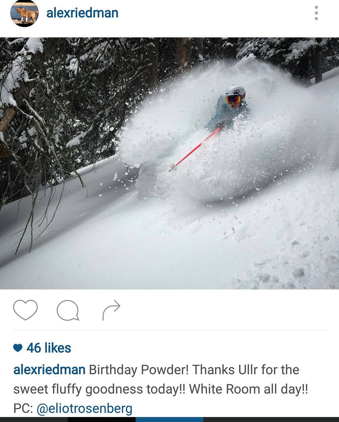 #regram and a happy belated birthday to miss @alexriedman  oh and congrats on your recent 5th place finish at Crystal mountain! Looks like you celebrated in style yesterday