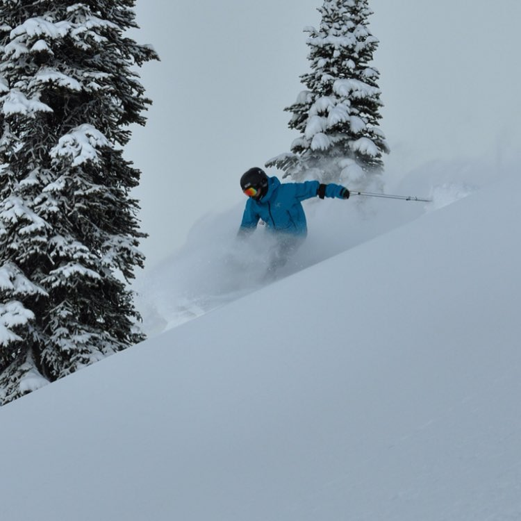 This is not a selfie but a rad shot of @selfiestevewallace ripping at @cmh_heli at the #cmhgothics lodge