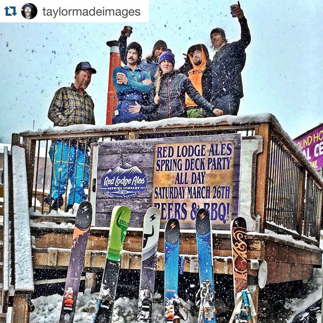 #Repost @taylormadeimages with a quality entry in the @blizzardskis @tecnicaskiboots #Apres101 contest! stoked to see everyone's posts this weekend! ・・・ I don't always #afterski but when I do it's at @bridgerbowl after #bbowlslidin with my friends....