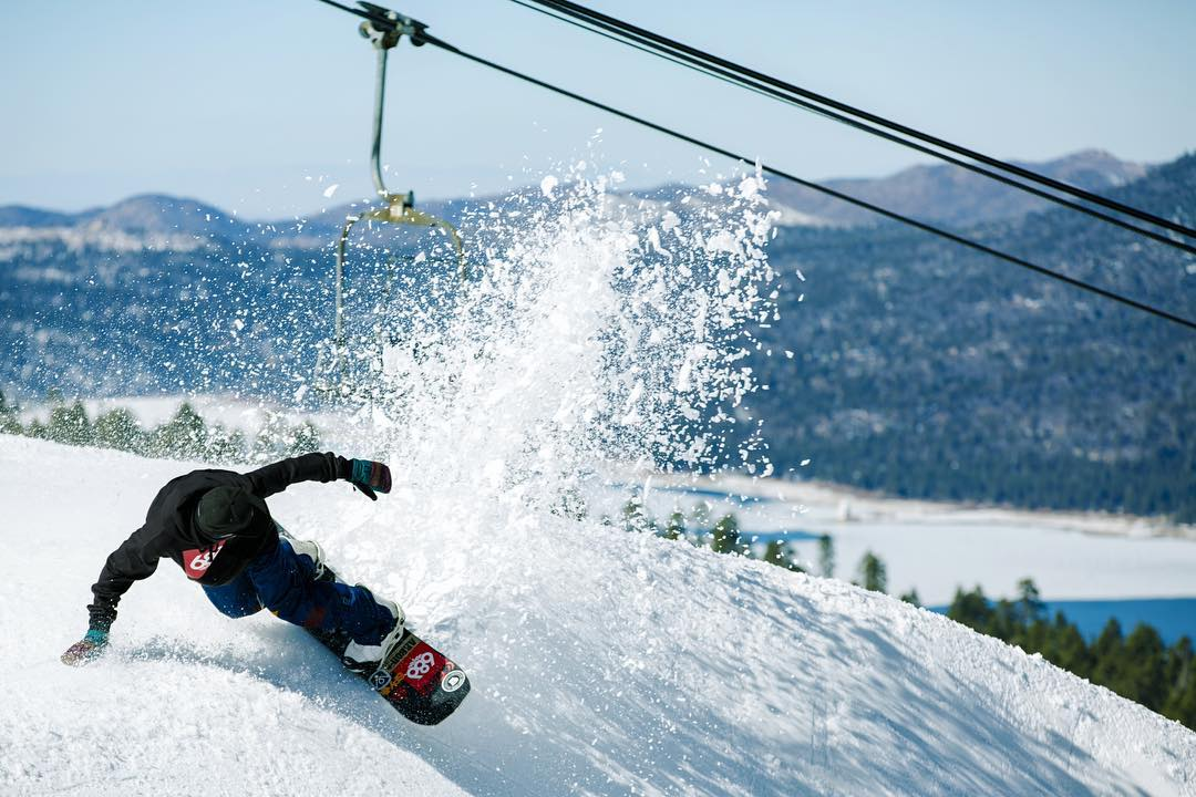 @mikeegray happily slashes @bear_mountain.