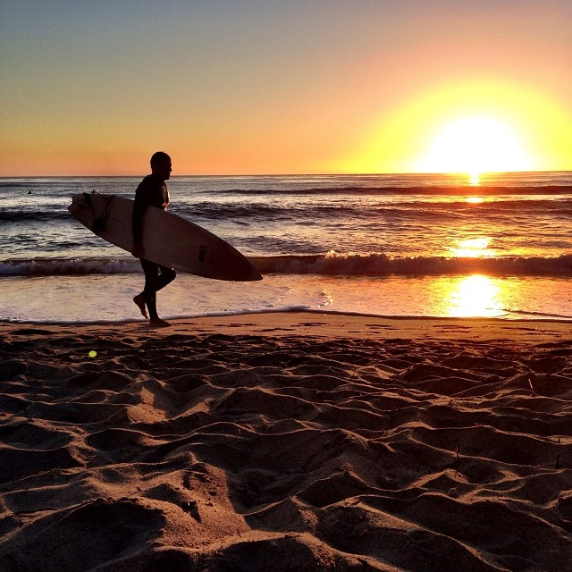 @shaunmmckay finishing off the weekend with a #sunset paddle. #Encinitas #Surfing #NoFilter