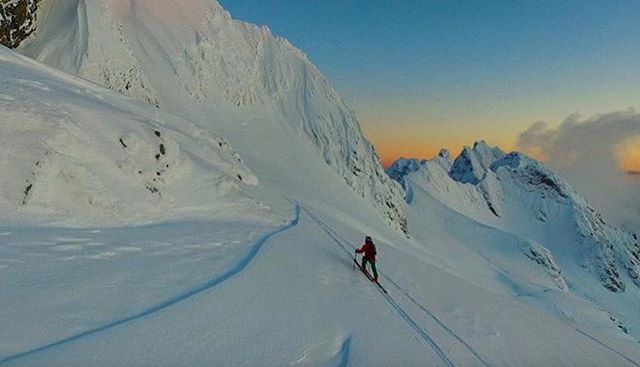 Skiing will take you many places. @kyepetersen deeper into the glacier country than most will ever go.