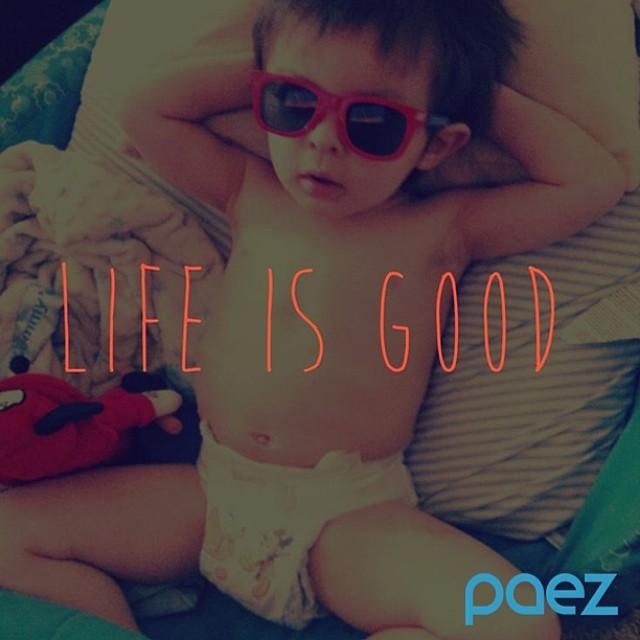 Stop, kickback and relax… #Paez #Baby #sunglasses #PaezShoes #MiniPaez