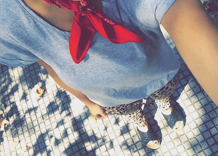 Look de hoy #ootd #outfit #look #fashion #blogger #animalprint #wedges #apple #iphone #streetstyle
