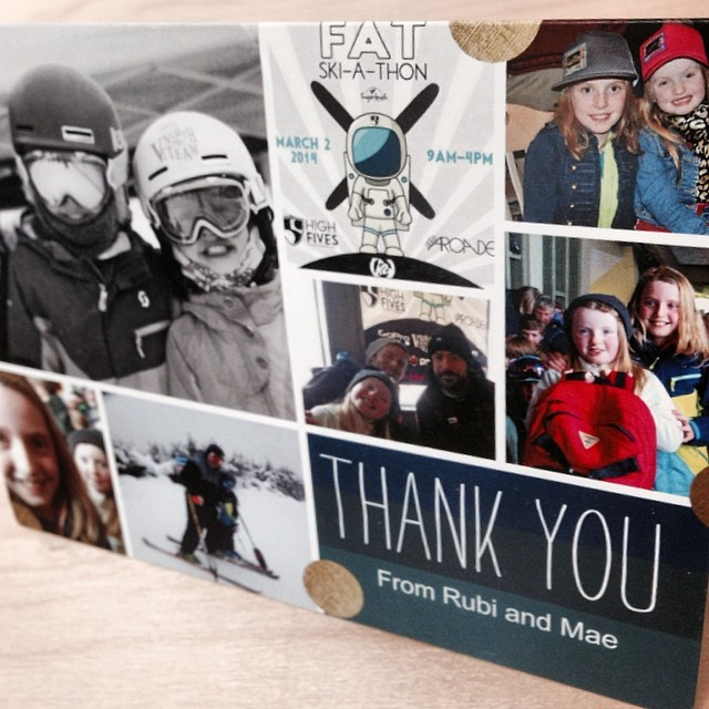 Just received an AWESOME thank you card from the Murphy girls of @vtnorthskishop | These two incredible skiers really know about community and supporting #HighFivesAthletes | They raised $5,000 for the Foundation via the FAT Ski-A-Thon on March 2 at...