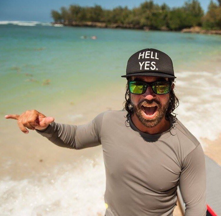 Hell yes, it's Friday!  Get your @hovenvision sunnies and hit the water. @jvaine1 is pumped he can't lose his Hoven floatable sunglasses. Get yours at www.hovenvision.com.  #hovenvision #justbusylivin #earnyoursalt #shaka
