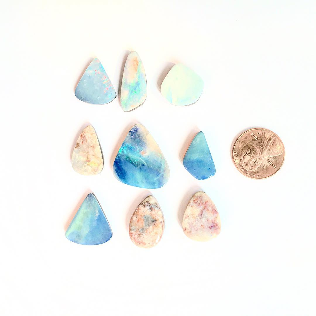 Australian Boulder Opals. They're in their natural habitat here with one another. Just a beautiful sight.  #crystalgypsy #juliaszendrei #opals #oneofakind #Etsy #etsywholesale @etsy #boulderopal #tgif