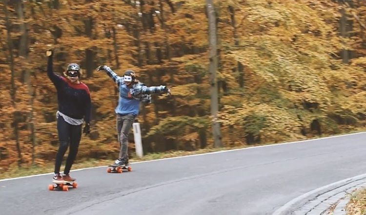 Two of our favorites! Go to longboardgirlscrew.com to check out LGC Austria Ambassador & both @iconelongboards & @bolzentrucks riders @glorifiziert & the owner of the best hair in DH skateboarding @nicolanuehrig skating fast in Austria. They're also...