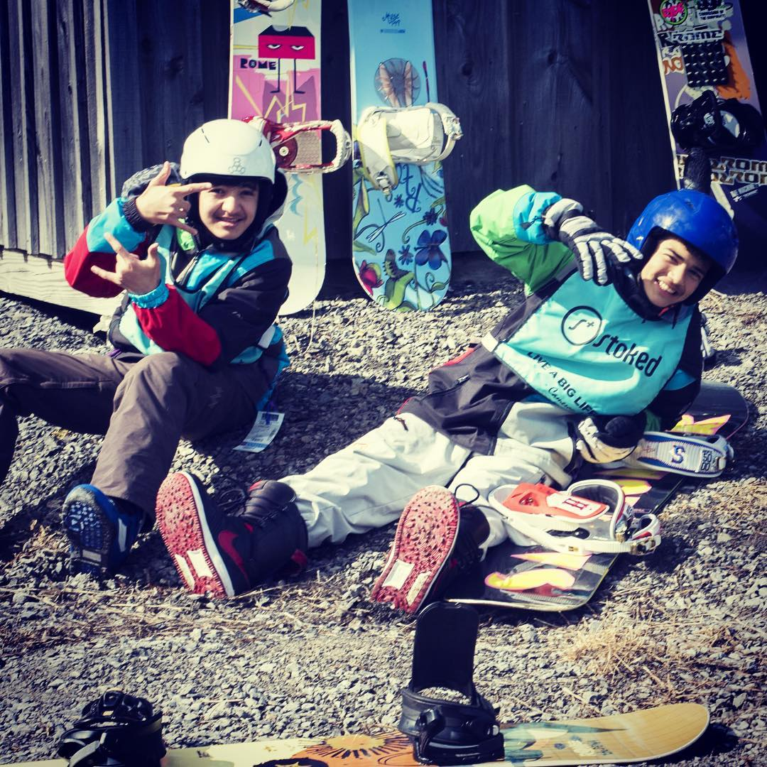 Our students are always stoked to shred!