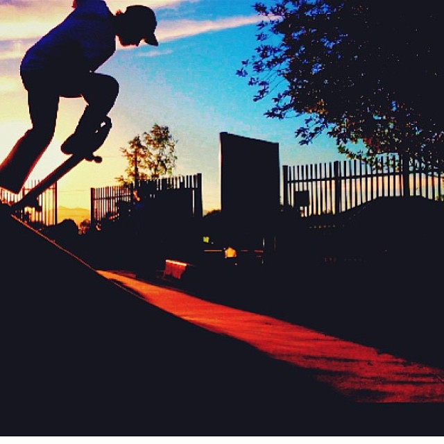 Chris Frost @minnesnowtafrost Havin a #sunset session in SLC. #Artsy #CrailBlock #skateboarding