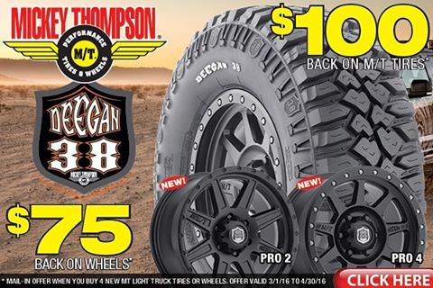 Check out @mickeythompsontires for some sweet rebates on my #deegan38 tires and rims