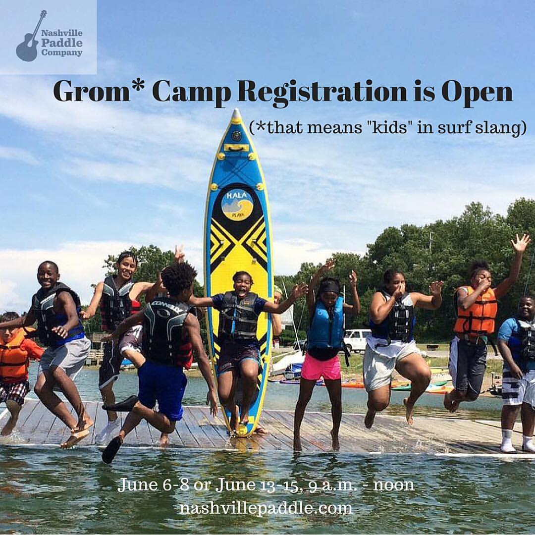 A great program from @nashvillepaddle!!! ・・・ Help your kids learn to paddle this summer! Registration is open for our 3-day Grom Camp. June 6-8 or 13-15. Details at Nashvillepaddle.com #SUPersummer #supnashville #nashvillesup