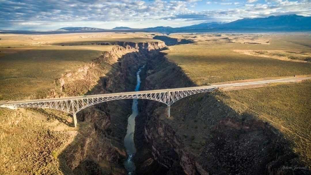 Rio Grande Gorge Bridge  Credit: Dawn Jernaill | #Phantom #NewMexico  Use #IamDJI to share your aerial creations with us!