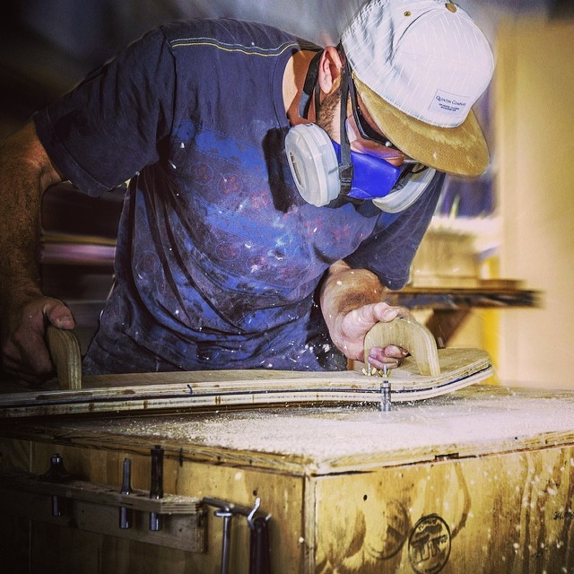 Wood-shop Wednesday.  Our production process ensures quality craftsmanship the entire way. All our decks are crafted locally in San Diego, one at a time, from start to finish. #naturallogskateboards #usmade #handcrafted #handmade #bamboo #cruiser...