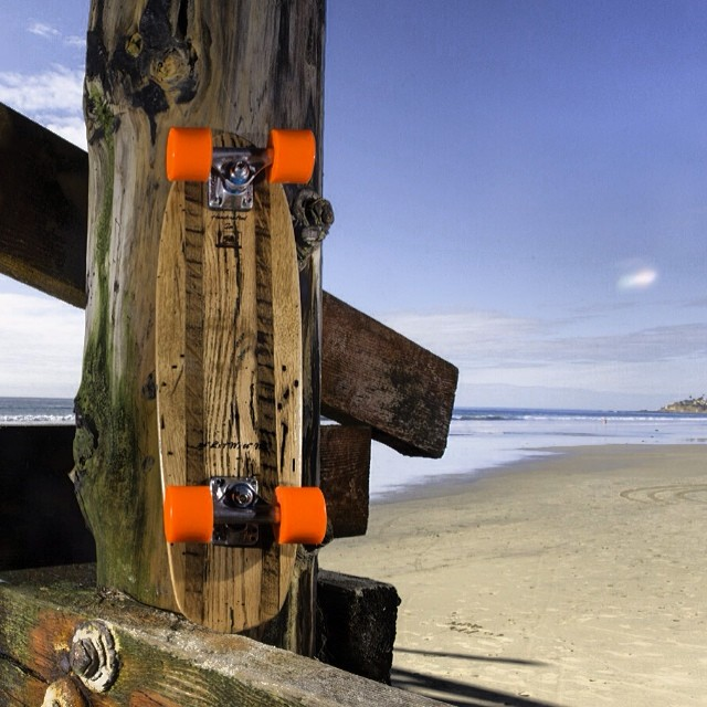 Looking to ride in style this Spring?  Our Vintage Roots Mini provides a smooth ride in the most stylish, compact way possible. www.naturallogskate.com #naturallogskateboards #handcrafted #bamboo #cruiser #skateboards from #sandiego #california
