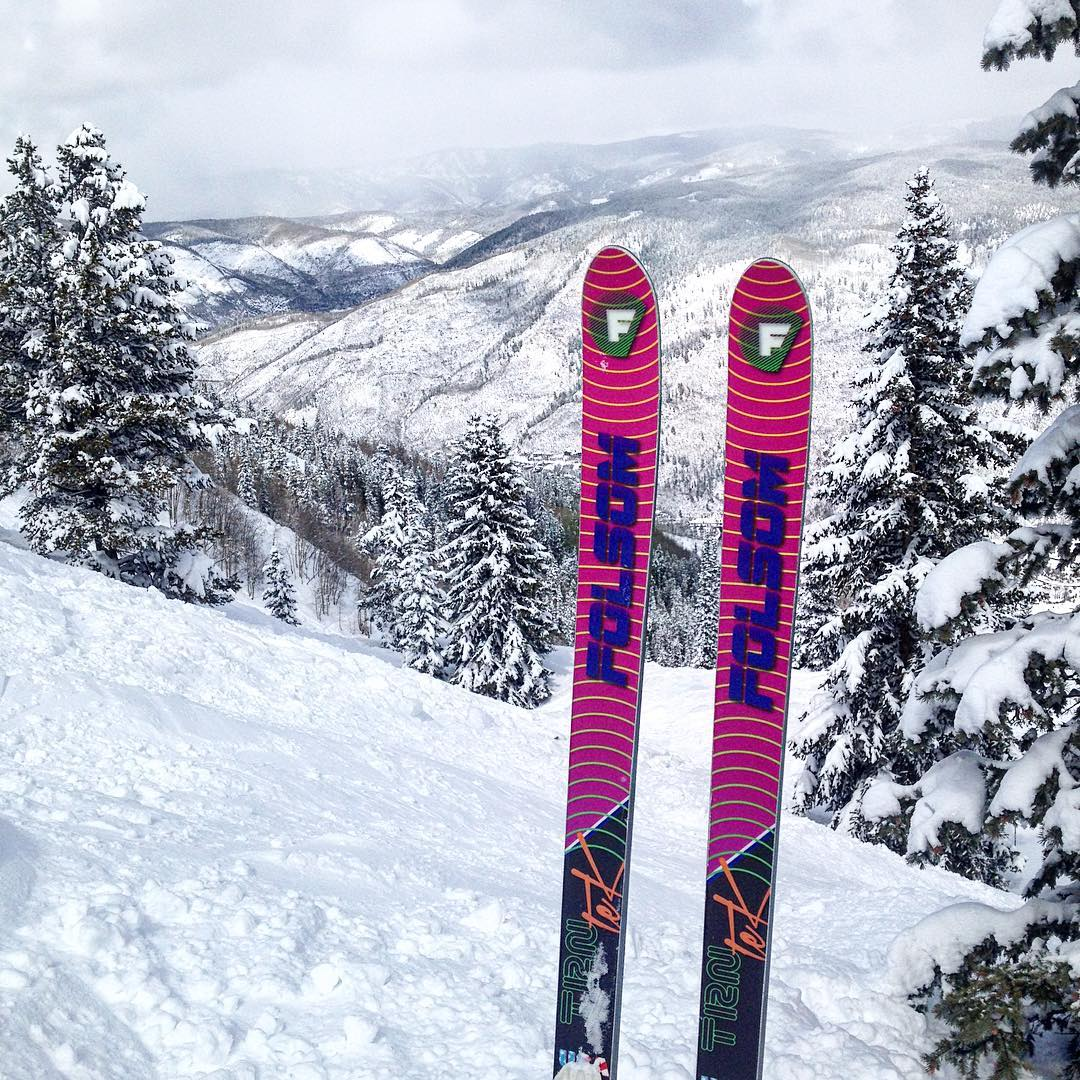 "With 14"" of fresh snow here @aspensnowmass afternoon #trnteklife is the only way to go!"