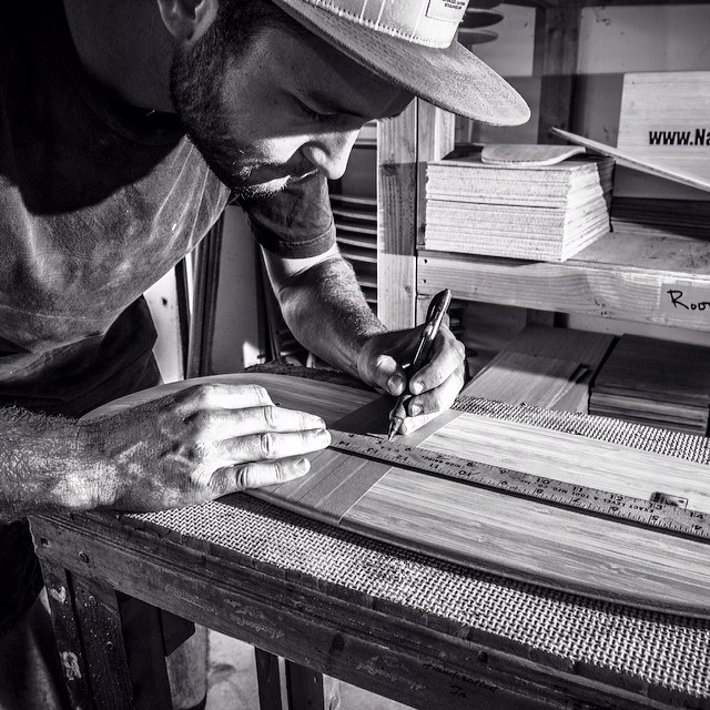 Wood-shop Wednesday! All our boards are carefully handcrafted by the craftsmen behind the brand. Check out @el_tomasu, our main shaper and designer prepping a Roots deck forairbrushing.  www.naturalogskate.com #notmadeinchina #handcrafted #bamboo...