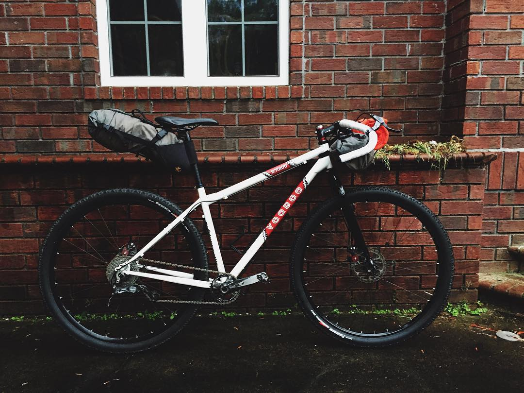 Pretty stoked I'm gonna die on this thing in 2 weeks with @maddog_maxwell #bikepacking