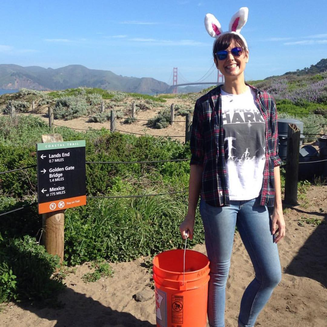 Happy Easter weekend from our stoked beach bunny @rachel_shines