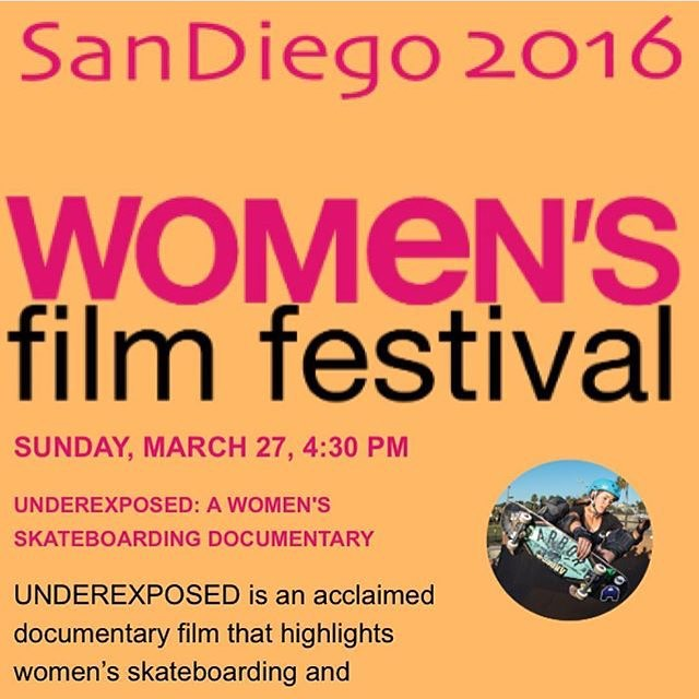 Check it out, the documentary that started EXPOSURE is going to be playing at the San Diego Women's Film Festival tomorrow! Click the link in the bio for info