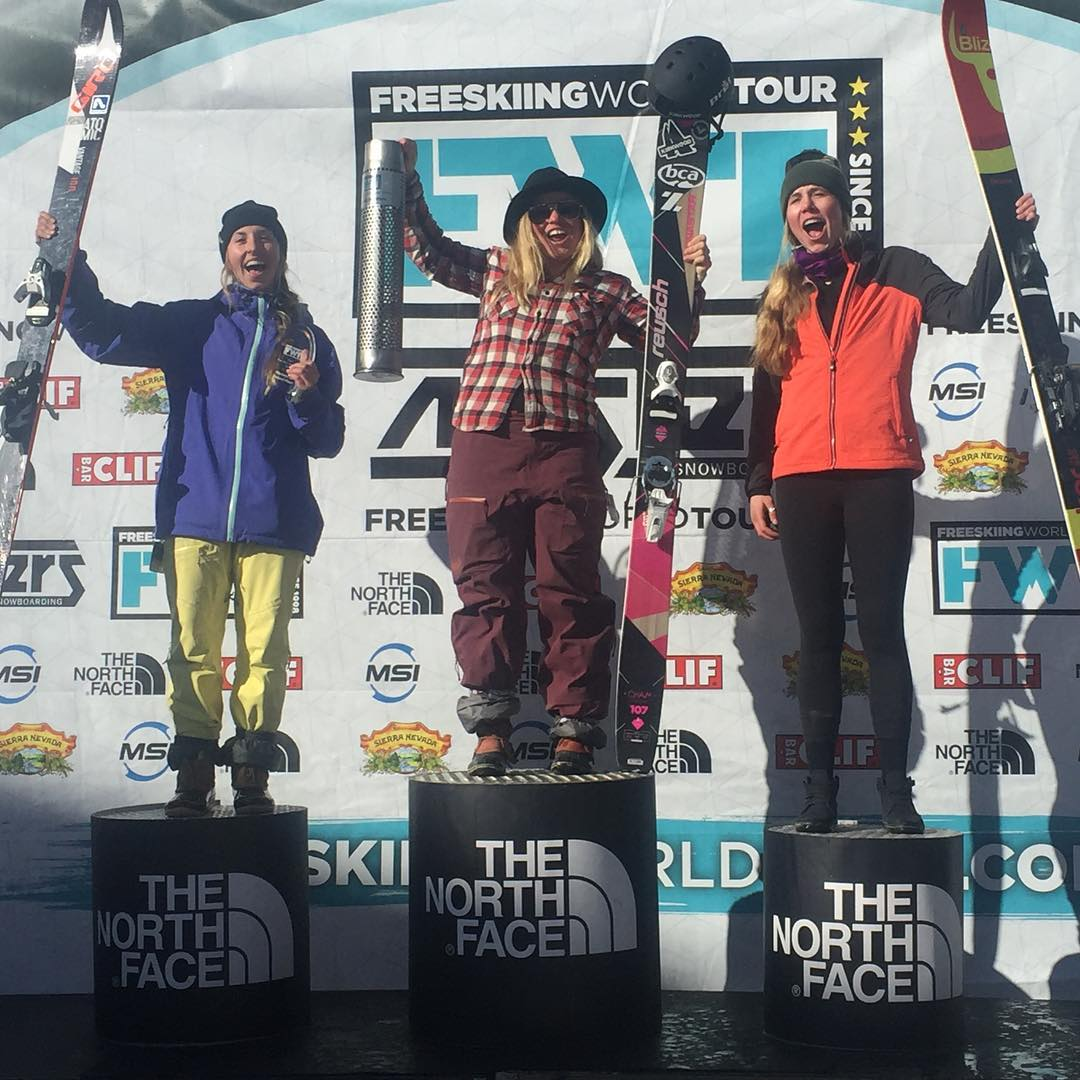 These ladies crushed it today in the @freeskiingworldtour at @bigskyresort. Congrats to 1. Hazel Birnbaum 2. Erika Klenk 3. Jaqueline Pollard. Hazel had the highest score of the day, men or women