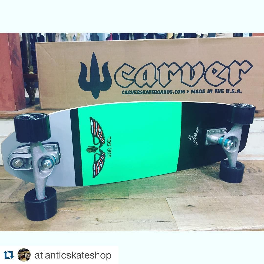 #Repost @atlanticskateshop with @repostapp. ・・・ SURF YOUR SKATE AVEC CARVER !!! Dispo au SHOP !!!!!!
