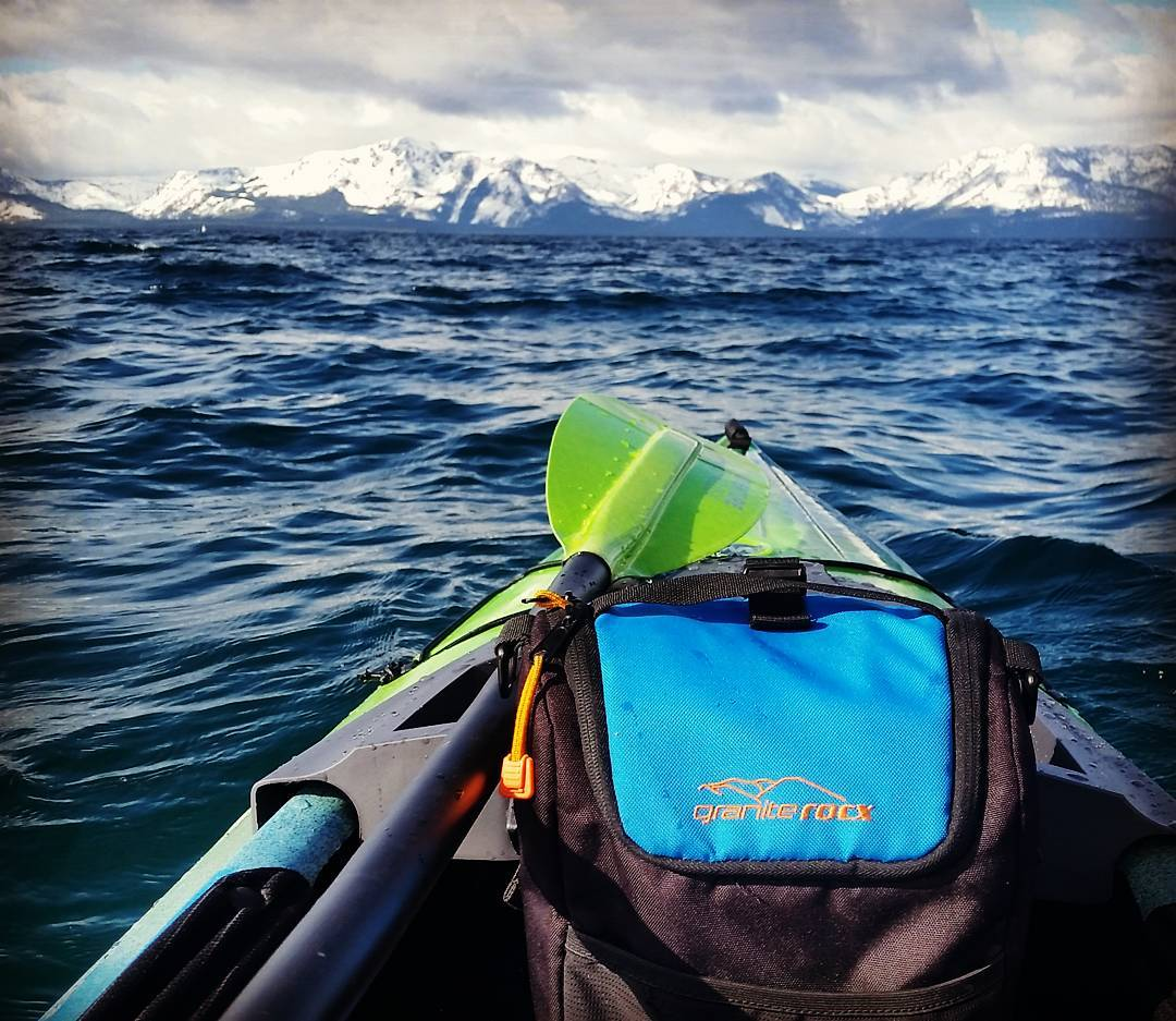 Easter morning paddle to get the blood flowing.  Happy Easter from all of us at Granite Rocx! #getoutside #kayak #wildernesssystems #coolers #tahoesnaps #whatsyour20 #adventure #renotahoe #sierras #graniterocx #outdoorsrocx