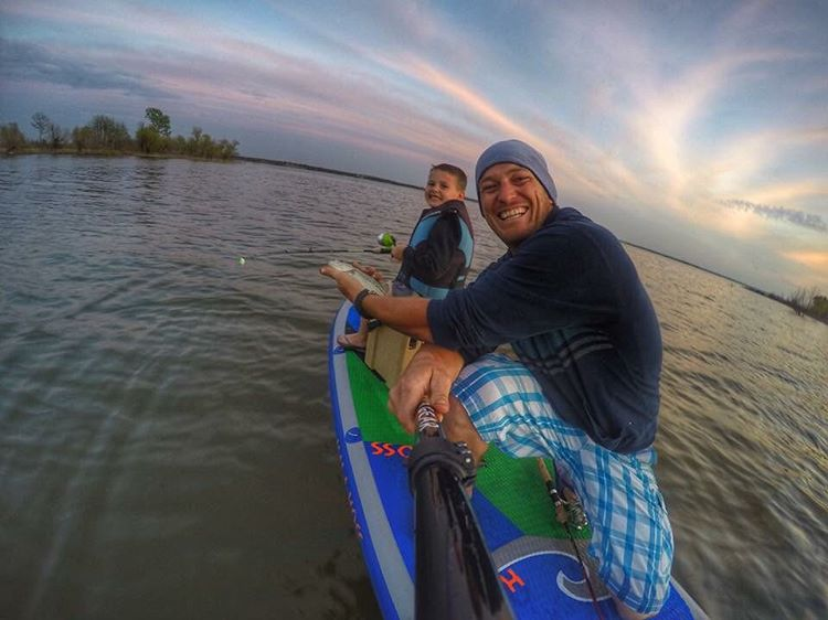 Team rider @saadventuresports and his son out for some Easter fishing!  Board: #halahoss  #halagear #adventuredesigned #paddlewithfriends #isup #inflatable #standuppaddle #paddleboarding #suplifestyle #adventurers #sup #supthemag #repostmysup...