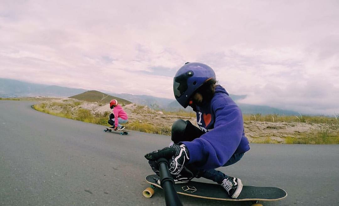 @longboardgirlscrewec riders @pamsalazarc & @michellejaramillo charging today in Azuay, Ecuador ⚡️ Hope you all had fun skating the weekend!  #longboardgirlscrew #womensupportingwomen #skatelikeagirl #lgcecuador #longboardgirlscrewec #michellejaramillo...
