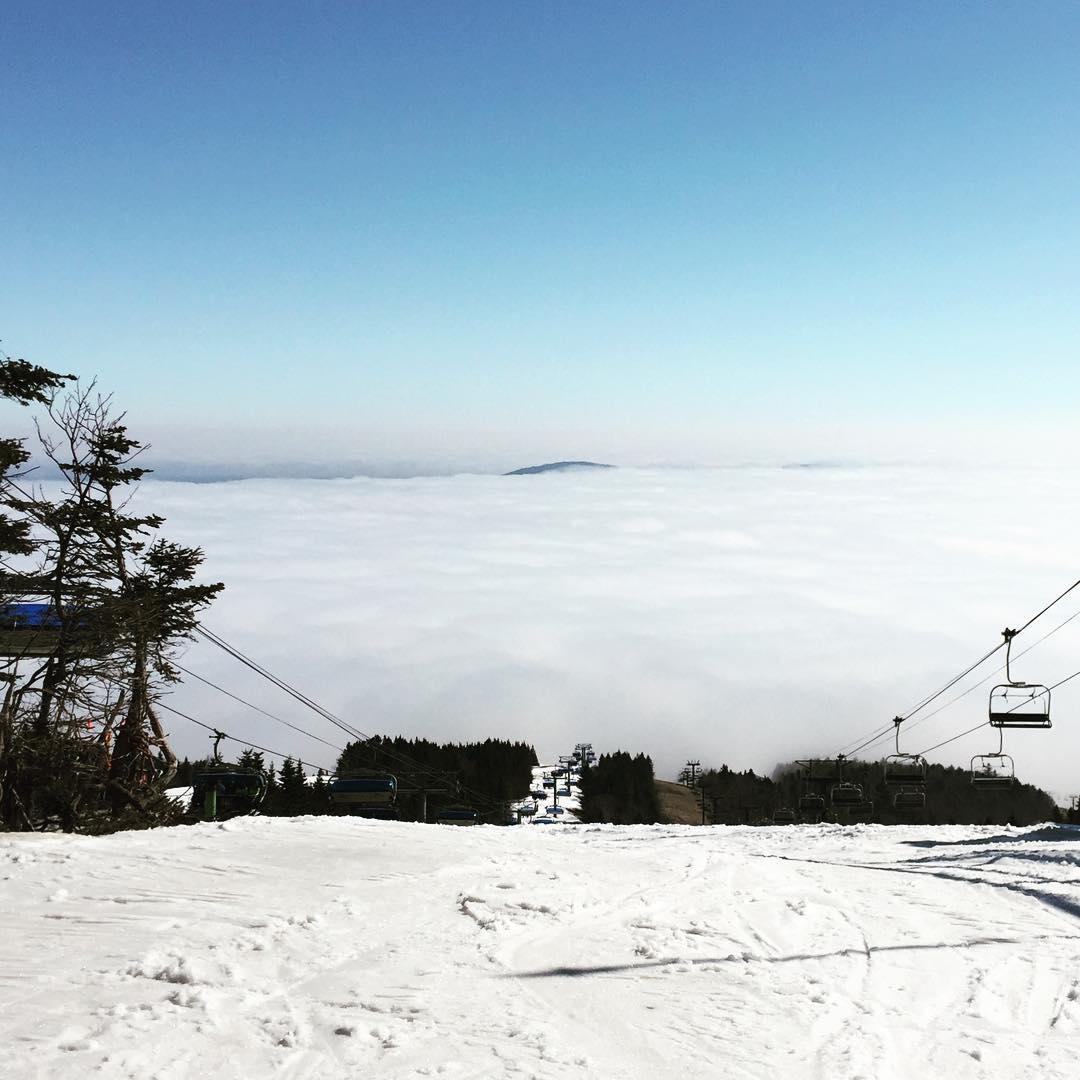 @mountsnow #inversion #clouds #justsendit #skiing #snowboard #easter #skiing802 #vermont @valleybikeandskiwerks