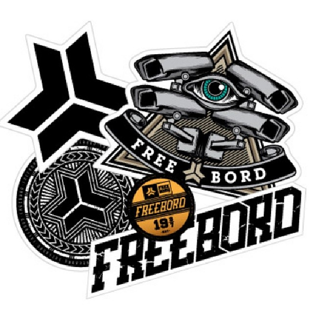 New #Freebord stickers on the site. Grab some and be sure to rep yo spot! #Snowboard the streets.