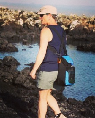 Hiking on a small island off of Santa Cruz in the Galapagos Islands with the Cascade cooler.  Thanks for the shot Caren! #getoutside #hike #coolers #adventure #graniterocx #outdoorsrocx