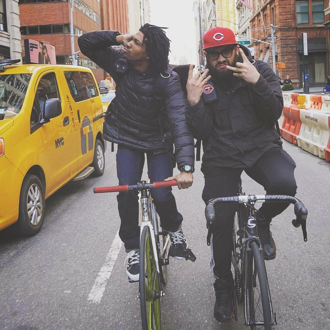 NYC #Boombotix  Where do you ride?  #essential #bikelife #jordans #portablespeaker #audiophile #NYC #BikeMessenger
