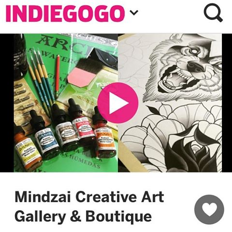 We always support the ones that supported us in the beginning.  Please visit @mindzaicreative and click the link in their bio. • • They are raising money to grow their gallery space for art shows. • • #atx #austintx #texas #tx #spratx #fortheart