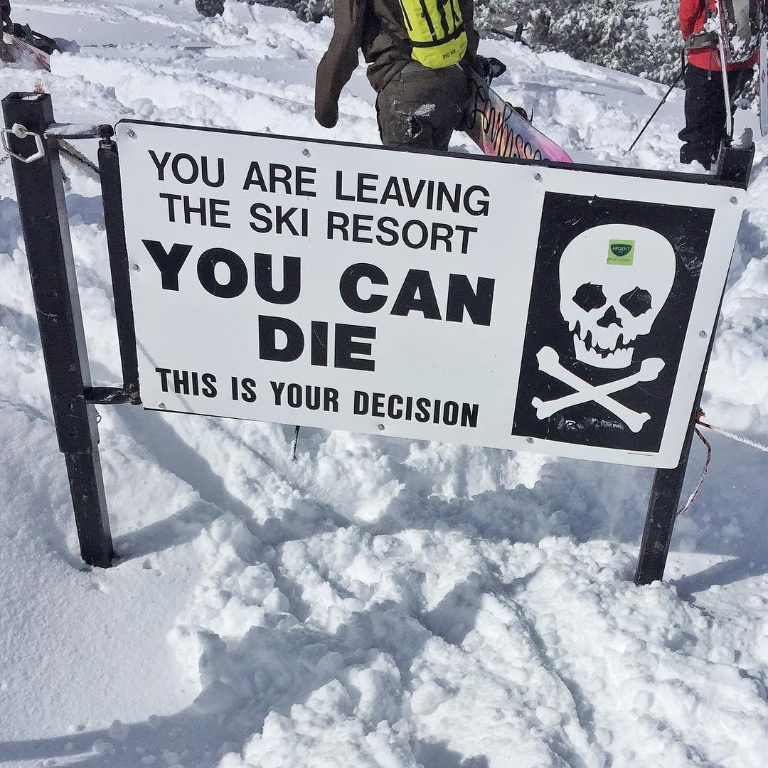 This is still one of my favorite signs in the world. #powaccess #powtown #wearyourpeeps #worthit #youcandie #ParkCity
