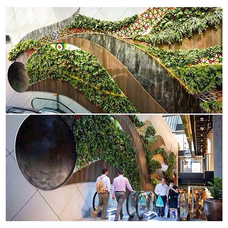 Love when art + living plants combine to make public spaces come alive!