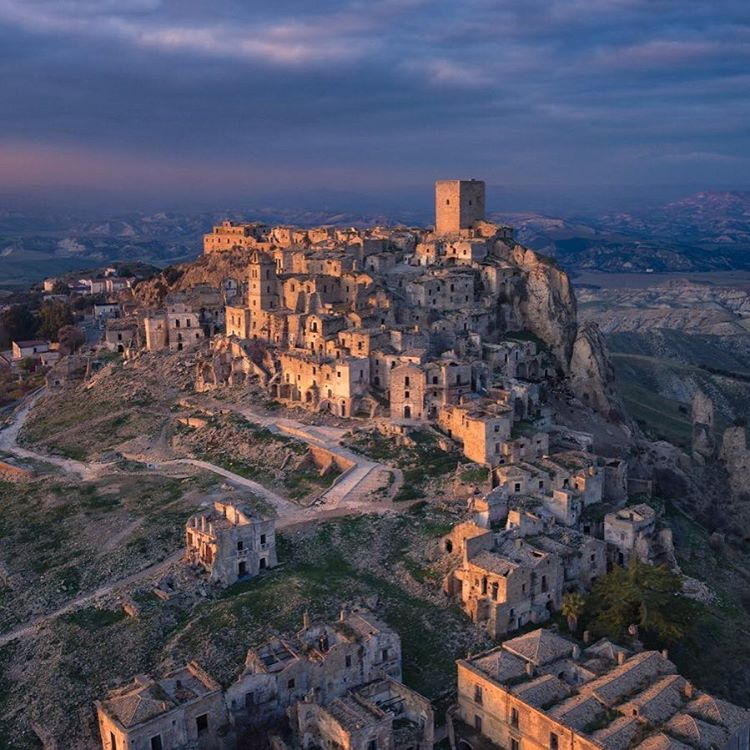 The Ghost Town Craco, Italy  Credit: Gerry Pacher | #DJI #Inspire1Pro