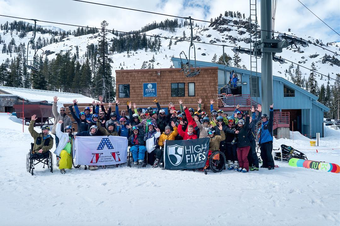 Alone we can do so little, together we can do so much!! @squawalpine @adaptivetrainingfoundation #AchieveTahoe