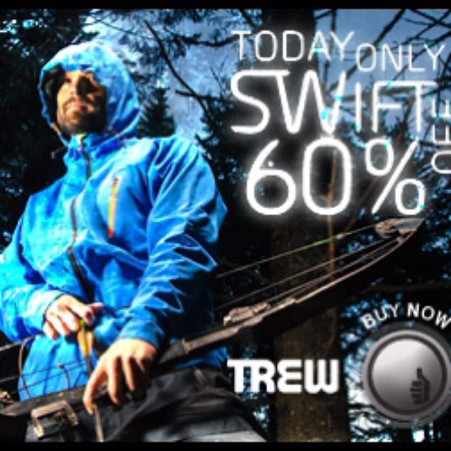 60% off our Swift Softshell featuring Polartec Powershield. Today only.  www.trewgear.com. #moveswiftly