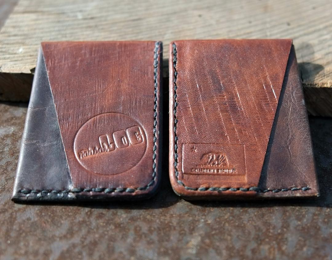 Simplify your pockets with the Stash Wallet. Made in #california by @bryerleather Order yours today www.NATURALLOGSKATEBOARDS.com