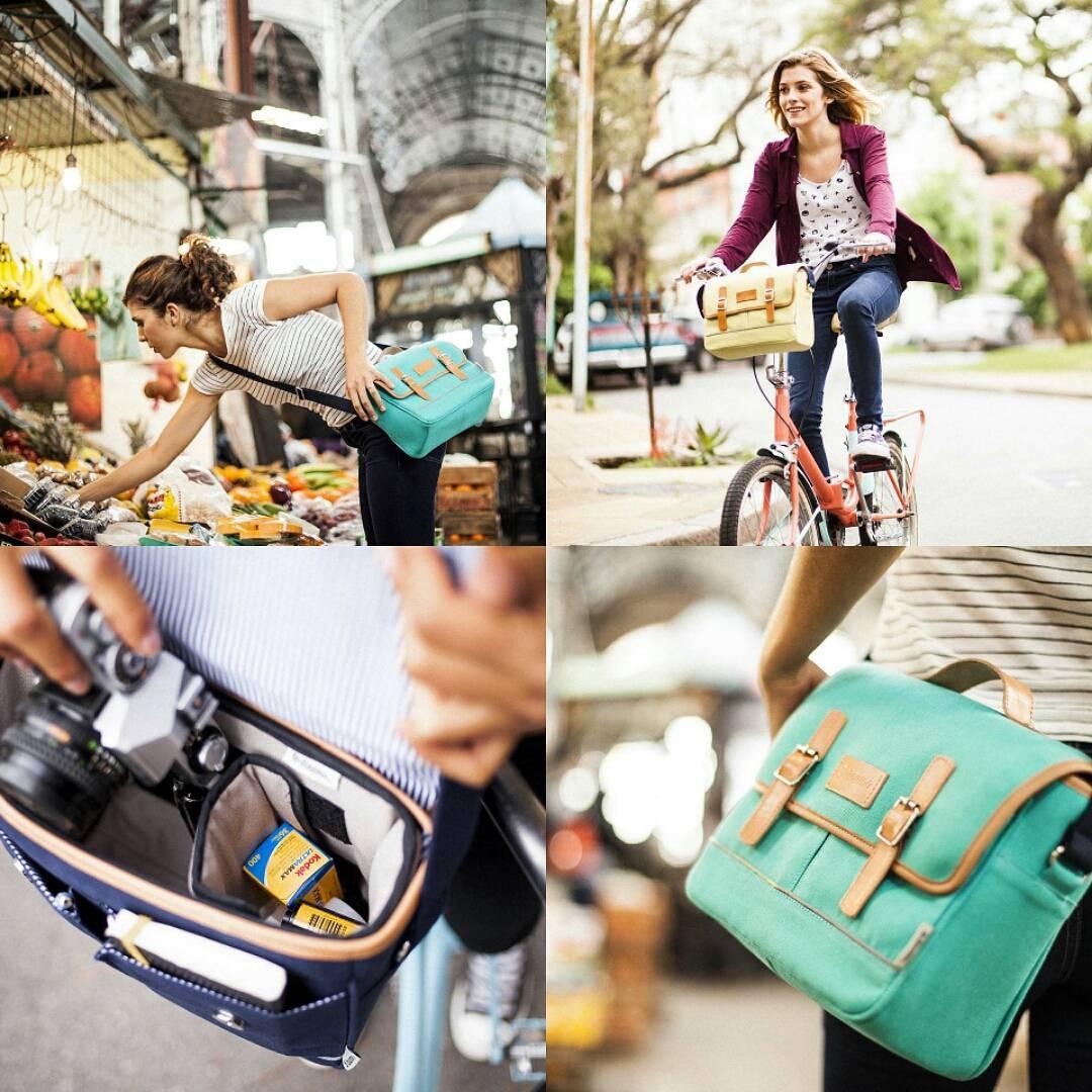 Usalos en la Bici. Disfrutalos todo el día.  12 cuotas sin interés. Envíos sin cargo.  www.dinamobolsos.com.ar