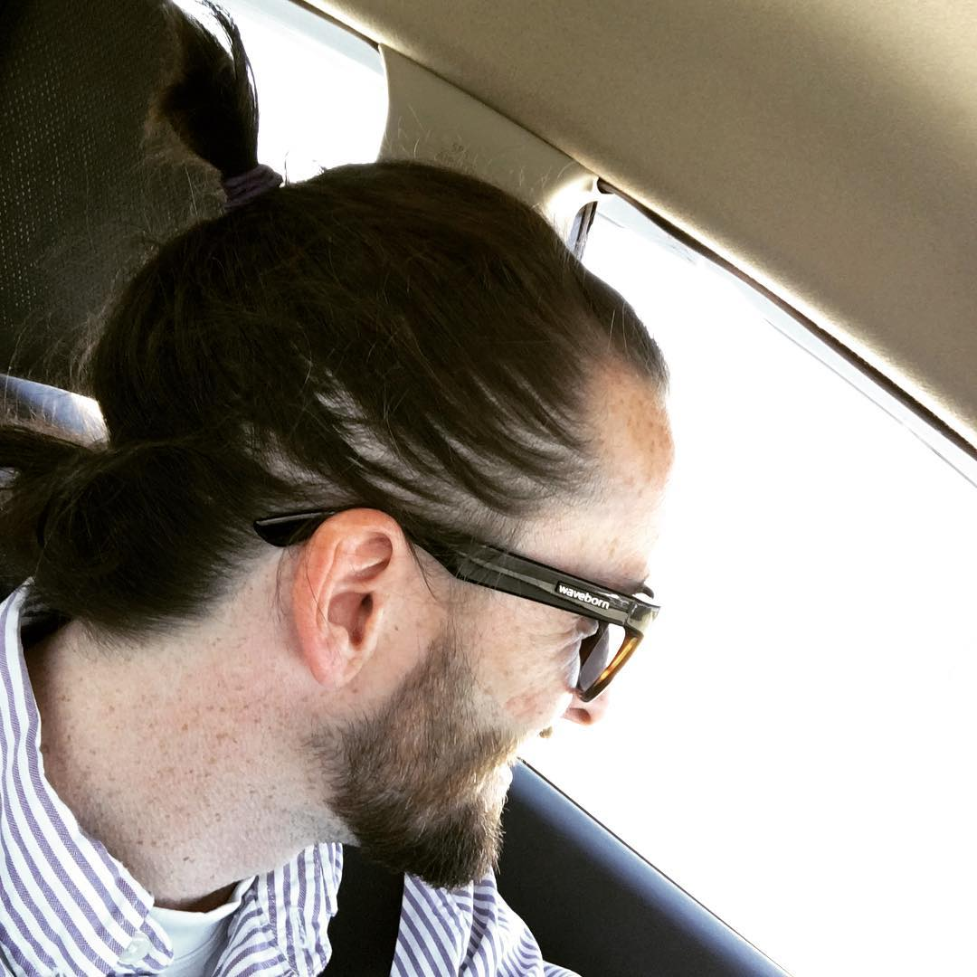After the long #winter, the #manbun has arrived for #spring #findthesun #waveborn #manbunonfleek