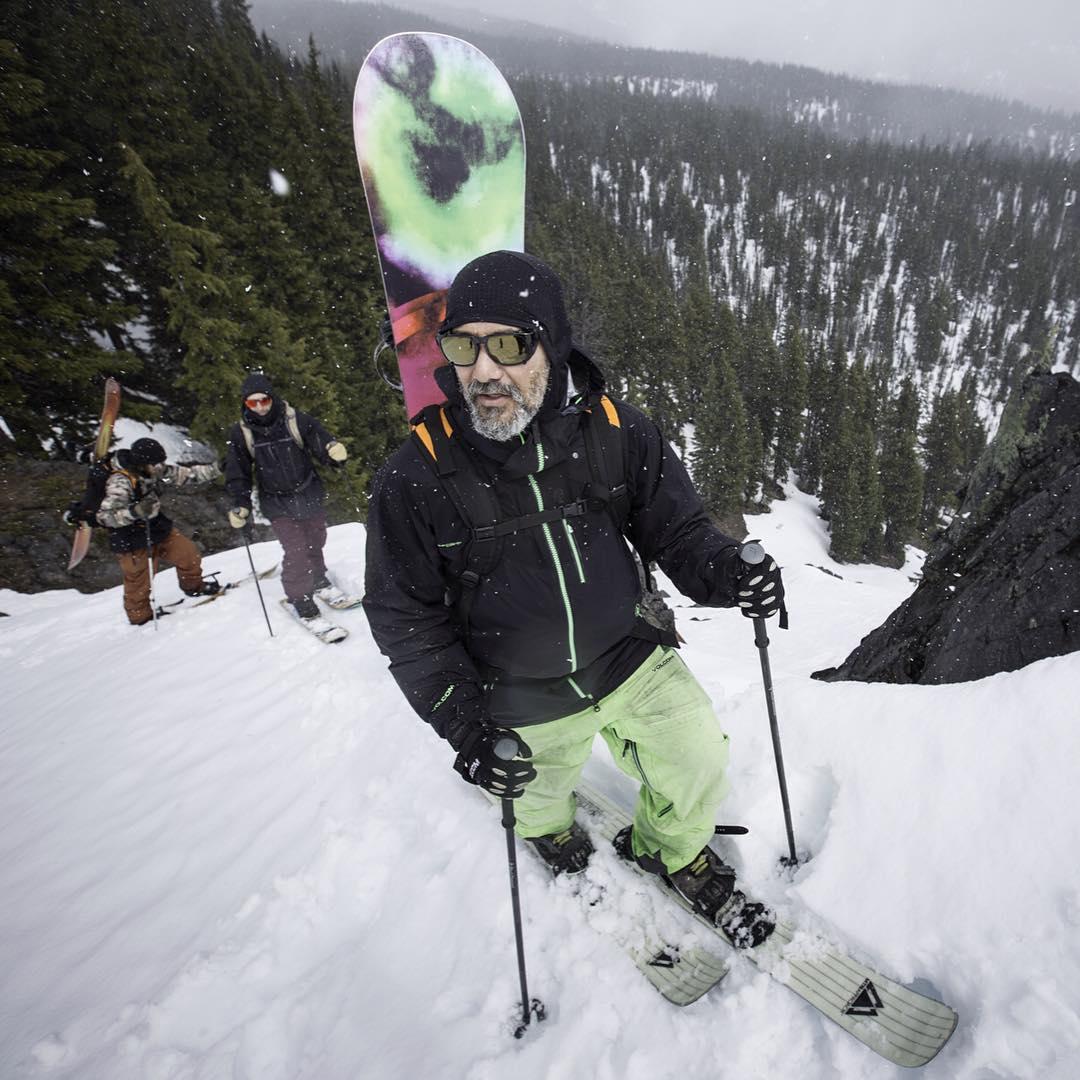 @bryaniguchi earning his turns in the new MountaineerX sunglass.