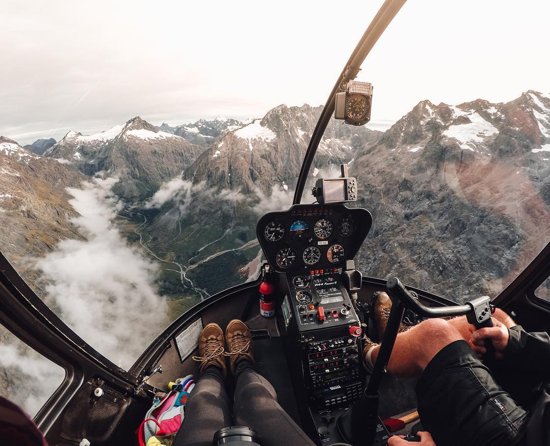 #GoPro #WCW @bearfoottheory  When I was down in New Zealand's Fiordland National Park, I got a birds eye view while flying with Southern Lakes Helicopters over Milford Sound. Once I was up there, the size of the mountains really took me by surprise....