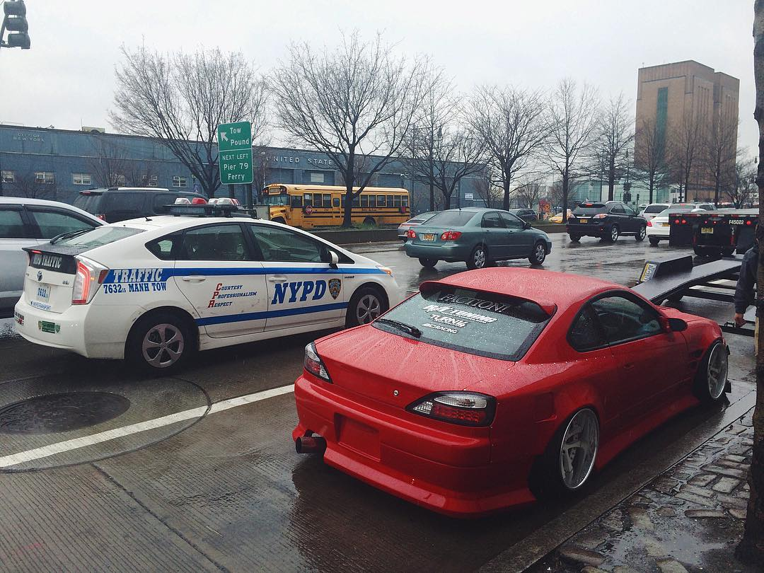 NYC street parking game serious right now with @geoffstoneback's s15.