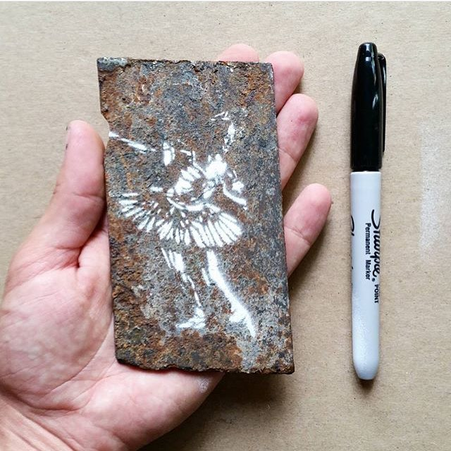 @davelowell • • Tiny Dancer • • #atx #austintx #texas #tx #spratx #art #stencil #davelowell