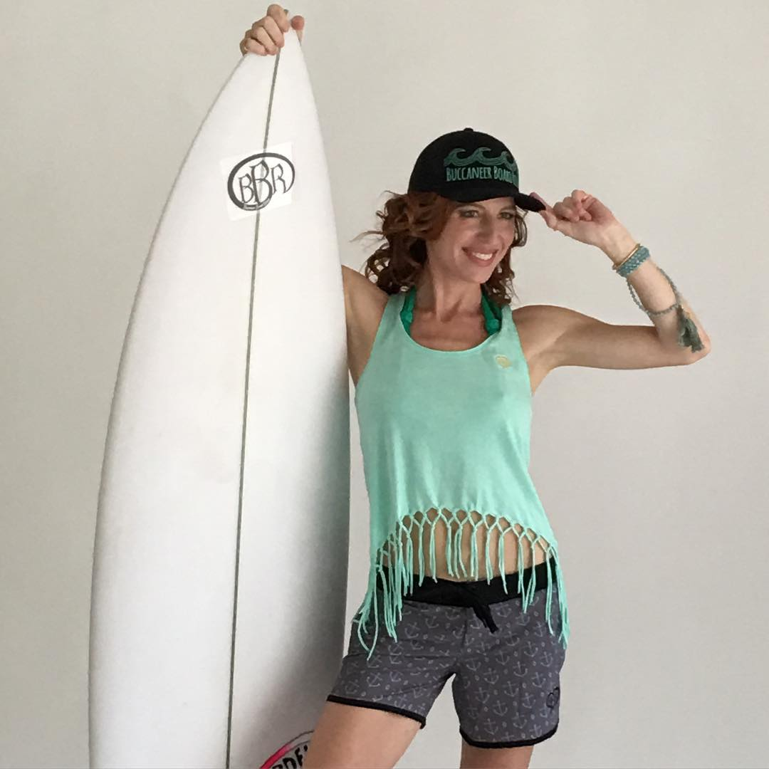 Actress, Tanna Frederick, looking good in her BBR Surfwear and her Cordell Surfboard. #tannafrederick #actress #cordellmiller #cordellsurfboards #bbr #bbrsurf #bbrsurfwear #buccaneerboardriders